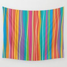 COLORFUL STRIPES Wall Tapestry