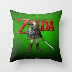 Zelda Sword Throw Pillow