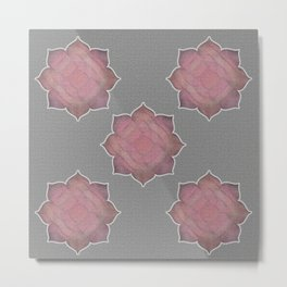 Muted Lotus Flower  Metal Print