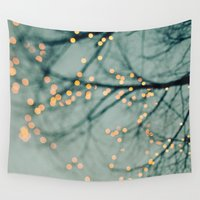 the lights Wall Tapestries featuring Lights  by Laura Ruth