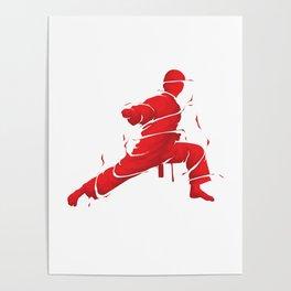 Eat Sleep Karate Repeat Fighter Martial Arts Kendo Taekwando Combat Sports Gift Poster