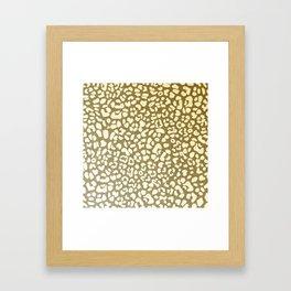 Leopard Beige Pattern Framed Art Print