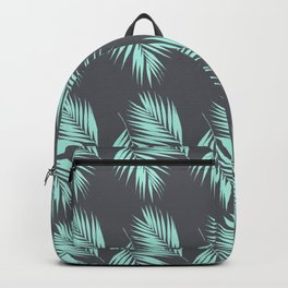 Palm Leaves Pattern #8 #Mint #CoolGray #decor #art #society6 Backpack