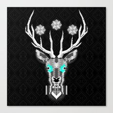 Silver Stag Geometric Canvas Print