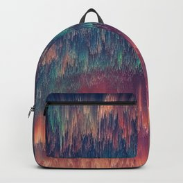 Glitch art Sky #glitch #abstraction Backpack