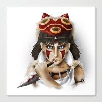 mononoke Canvas Prints featuring Mononoke by Cristina Valero
