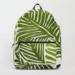 Summer Fern / Simple Modern Watercolor Backpack