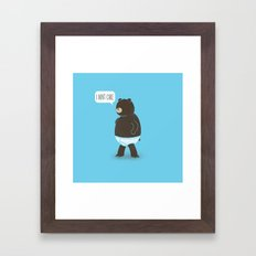 A Bear In Underwear That Just Don't Care Framed Art Print