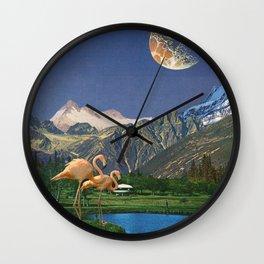 Life Is A Flamingo Wall Clock