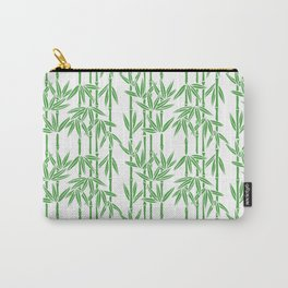 Bamboo Rainfall in White/Sullivan Green Carry-All Pouch