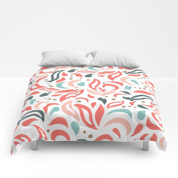 Coral Fest Comforters