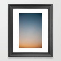 Sunset Gradient 1 Framed Art Print