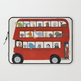 the big little red bus Laptop Sleeve