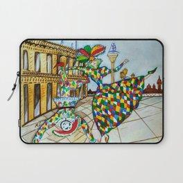 Arlecchino and Colombina. Carnival of Venice. Laptop Sleeve