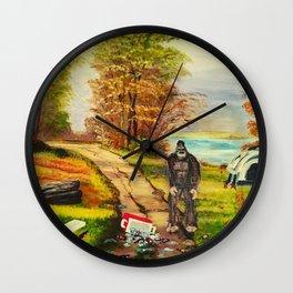 Sasquatch Camp Crasher Wall Clock