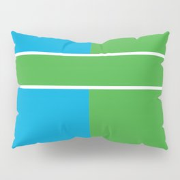 Team Color 6...Light blue,green Pillow Sham
