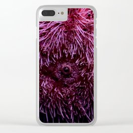 Pink Sea Urchin Clear iPhone Case