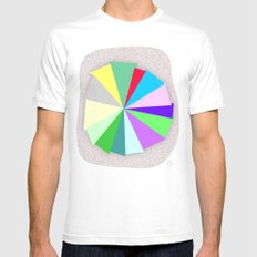 Color Bars White MEDIUM Mens Fitted Tee