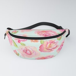 Impressionism Roses in Pink and Orange Fanny Pack