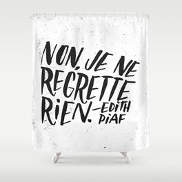 Edith Piaf Shower Curtain