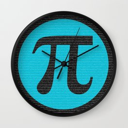 First 10,000 digits of Pi, blue on black. Wall Clock