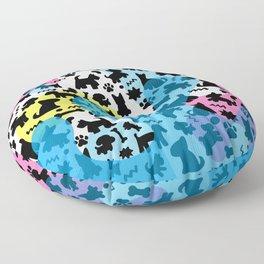 Crazy Dogs Pattern Floor Pillow