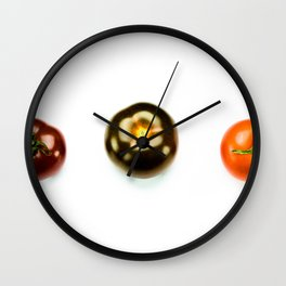 Tomato Trio Wall Clock