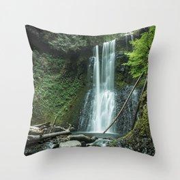 Ecola Falls in Oregon's Columbia River Gorge Throw Pillow