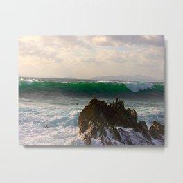 """Breakers at Gordon's Bay (v)"" by ICA PAVON Metal Print"