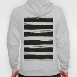 Trendy Black + Cream Stripes Hoody