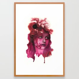 Blood Lady #1 Framed Art Print
