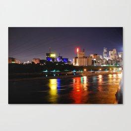MPLS @ night  Canvas Print
