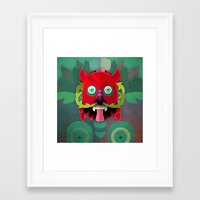 diablo Framed Art Prints featuring Diablo by Blanca Limón