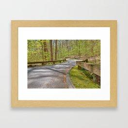 Rock Creek Winding Road Framed Art Print