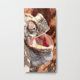 The Laughing Chameleon Metal Print