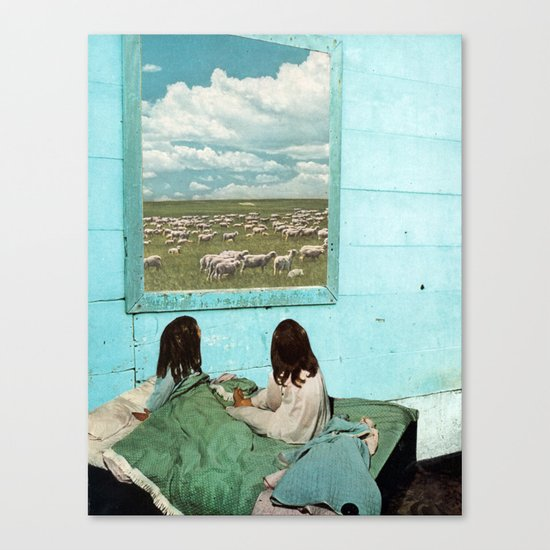 COUNT SHEEP Canvas Print