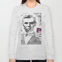 """Abe Takes A Selfie"" Long Sleeve T-shirt"