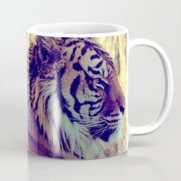 Tiger Face Aside Special Light Effect Vintage Coffee Mug
