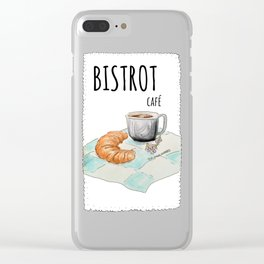 Bistrot café Clear iPhone Case