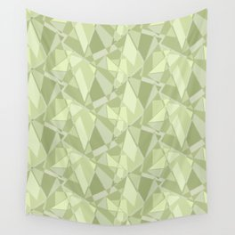 Abstract geometric. Shades of pistachio. Wall Tapestry