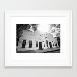 Gruene Hall - Oldest Dance Hall in Texas Framed Art Print