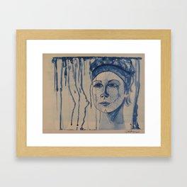 Lady Blues Framed Art Print