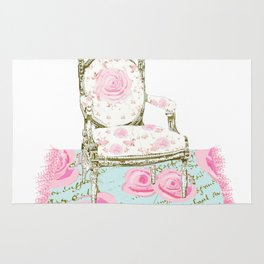 Shabby Chic Rug and French Chair Rug