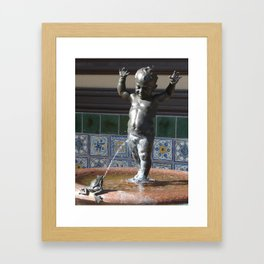 Kansas City Child and Frog Fountain Framed Art Print