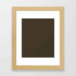 Jacko Bean - solid color Framed Art Print