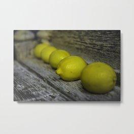 Lemon Line-up Metal Print