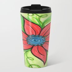 Poinsettia Travel Mug
