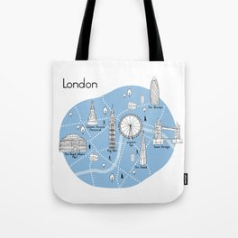Mapping London - Blue Tote Bag