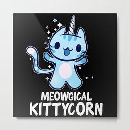 Meowgical Kittycorn Unicorn Cat Lover Metal Print