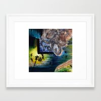 literary Framed Art Prints featuring Literary Octopus by Sarah Sutherland